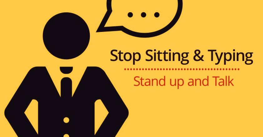 stop sitting