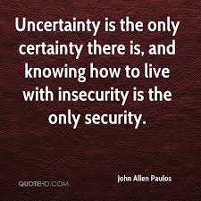 uncertainity